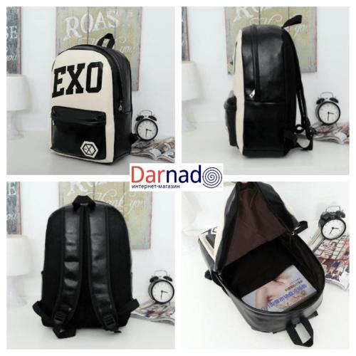 На картинке рюкзак Exo (4 варианта), вид с разных сторон, вариант 2.