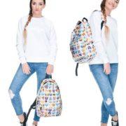Рюкзак со смайликами (смайлами) из вк (2 варианта) фото