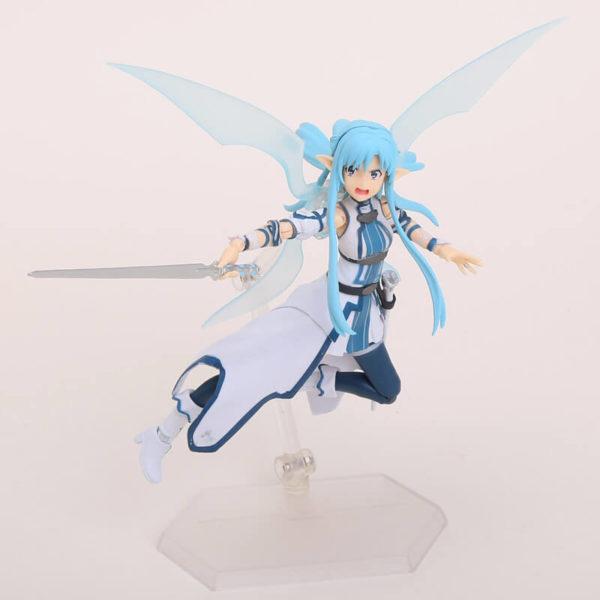 На картинке фигурка Асуна Юки подвижная (Sword Art Online) из ALO, общий вид.