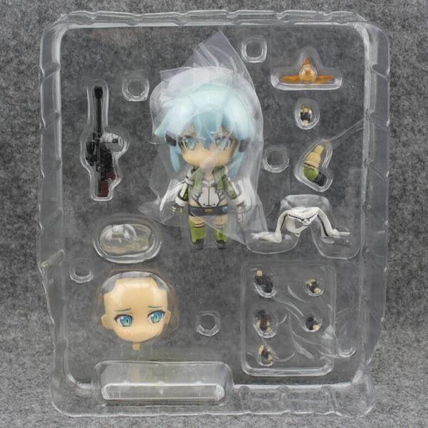 На картинке фигурка нендроид Синон «Sword Art Online», вид в упаковке.
