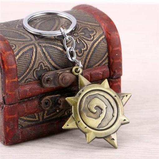 На картинке брелок «Hearthstone» Варкрафт (World of Warcraft) WoW, общий вид.