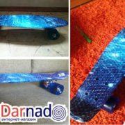 Скейт пенни борд с принтом космос, реальные фото