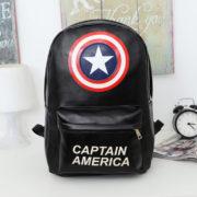 Фильмы-супер-Hero-капитан-америка-рюкзак-полиуретан-кожа-милый-рюкзак-для-девочек-подростков-девочки-и-мальчики