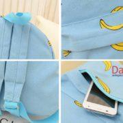 Голубой рюкзак с бананами, детали