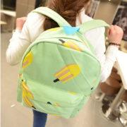 Горячая-Холст-банан-женщины-рюкзак-небольшой-студент-сумка-сумка-высокое-качество