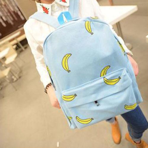 Милые-девушки-банан-печать-рюкзак-путешествие-открытый-накладки-рюкзак-уникальный-мода-холст-рюкзак-для-девочек-подростков
