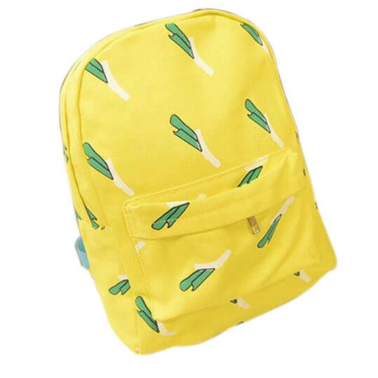Мода-свежий-стиль-холст-банан-женщины-рюкзак-малый-студент-сумка-мешок-BS88