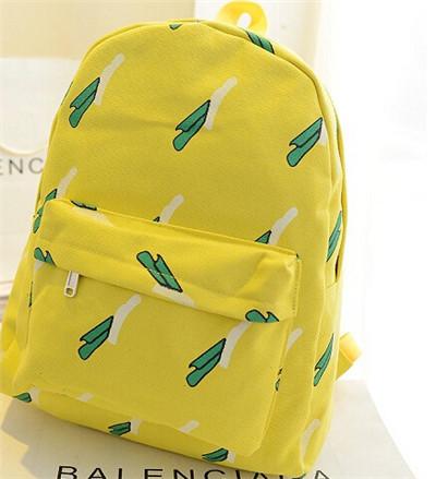 Мода-2015-женщин-холст-симпатичные-банан-рюкзак-школьный-портфель-небольшой-сумка-профессиональное-рюкзаки-для-девочек-подростков