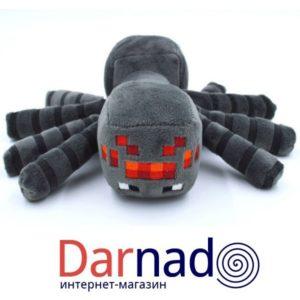 Мягкая игрушка Черный паук Майнкрафт (Minecraft)