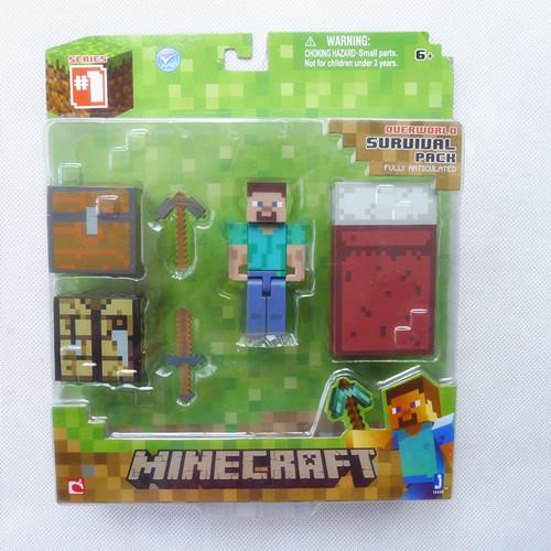 Стива-Jazwares-Minecraft-Overworld-Серии-1-Survival-Pack-Новый-в-Коробке