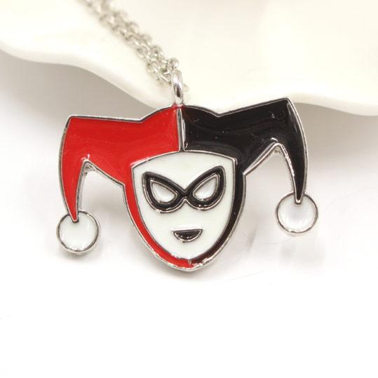 Комиксы-DC-бэтмен-харли-квинн-ожерелье-Hareley-Quninn-логотип-колье-эмаль-ожерелье-Kolye-ювелирных-украшений-для