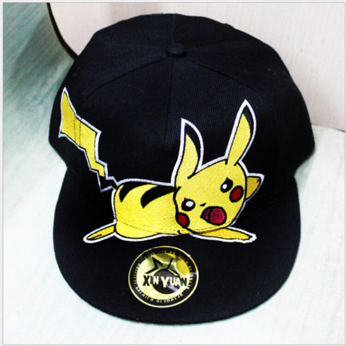 Новый-Мультфильм-Аниме-Pocket-Monster-Пикачу-Косплей-Cap-Черный-Новинка-дамы-платье-Pokemon-Hat-подвески-Костюм