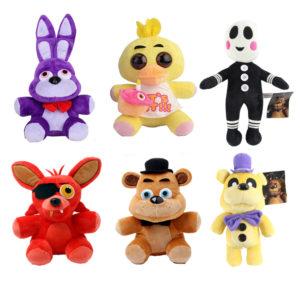 Пять-Ночей-в-Фредди-25-см-Медведь-Лиса-Утка-Кролик-Клоун-Фаршированные-Плюшевые-Куклы-Детские-Игрушки