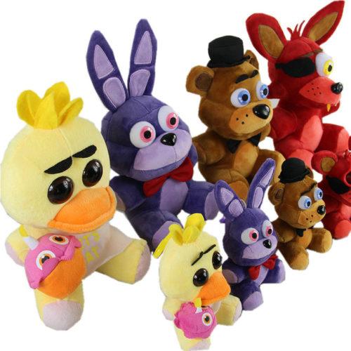 Пять-ночей-на-фредди-4-Fnaf-мира-фредди-Fazbear-медведь-рыжий-бонни-чика-плюшевые-игрушки-куклы.jpg_640x640