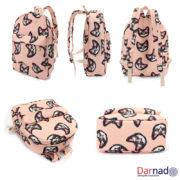 Рюкзак с милыми котами, вид с разных сторон