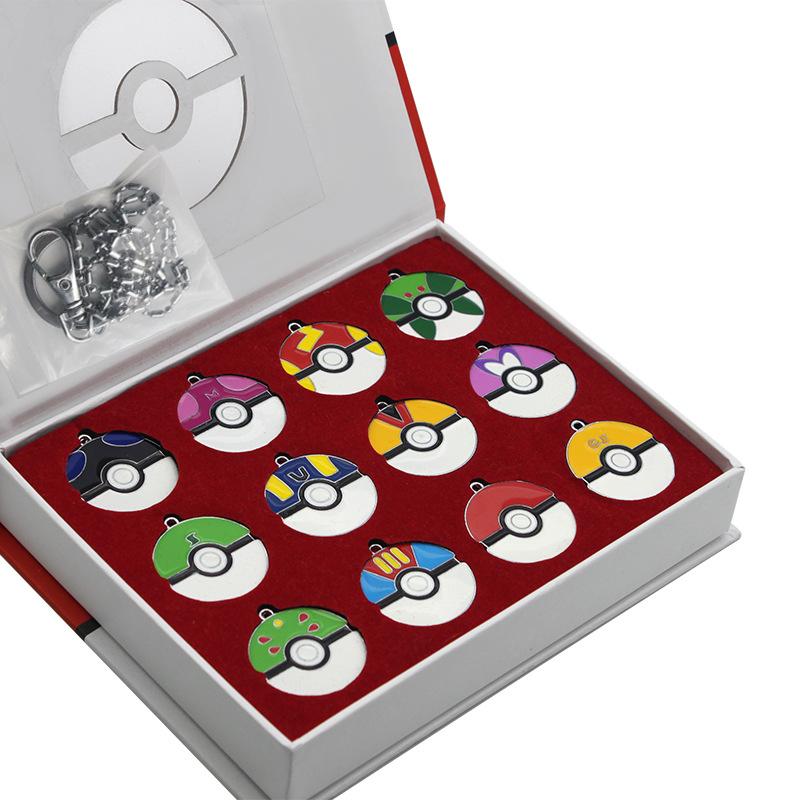 Фантазии-и-Фэнтези-12-шт-лот-Покемон-Мяч-Брелки-Аниме-Мультфильм-Pocket-Monster-Pokemon-брелок-Llavero
