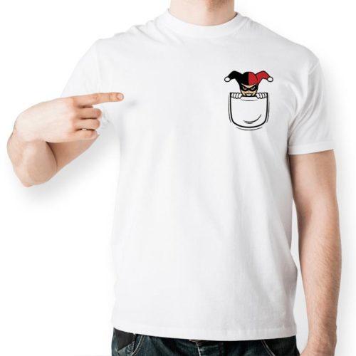 Харли-Квинн-Скрыть-Внутри-Карман-Рубашки-Дизайн-Смешно-футболка-Стиль-Прохладный-Моды-Случайные-Новинка-Футболка-Печатные