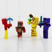 4-шт-компл-Пятидневное-На-Фредди-Строительные-Блоки-Minifigures-Оружия-7-см-Фокс-Медведь-Бонни-ПВХ