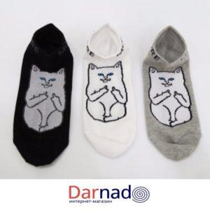 Короткие носки кот ripndip