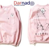 Свитшот кот ripndip, розовый вариант