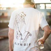 Ripndip-Официальный-1-1-Мужские-Хип-Хоп-майка-2016-Мода-футболка-аниме-Печатных-Скейт-Короткие-Рукава