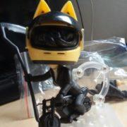 Фигурка нендроид Черный мотоциклист из аниме Дюрарара Durarara, реальное фото фигурки