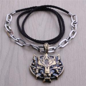 Горячая-игры-Final-Fantasy-7-Vii-и-далее-волчья-голова-анимация-ожерелье-оптовая-продажа-панк-стиль