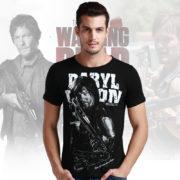 Ходячих-мертвецов-футболки-с-коротким-рукавом-о-образным-вырезом-топ-тис-рубашка-лето-Новый-стиль-мужчины