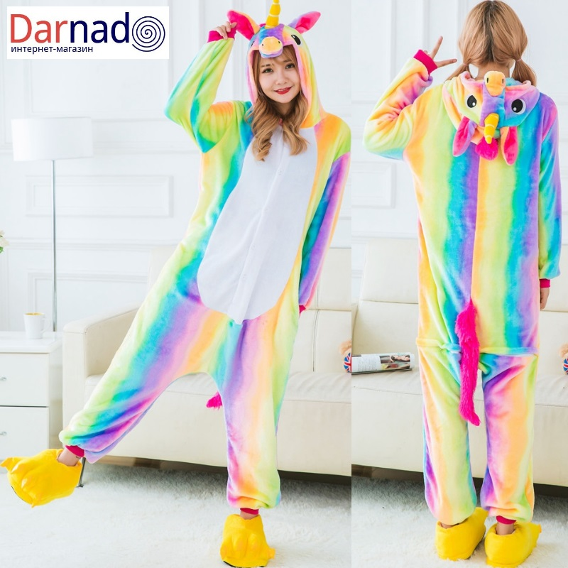 Купить костюм-пижаму радужный единорог можно заказать здесь 4216a7a1f6300