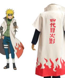 На картинке плащ 4 хокаге Минато (Наруто) Naruto, вид сзади.