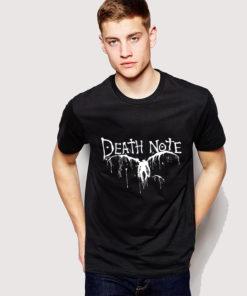На картинке футболка Тетрадь смерти, вид спереди.