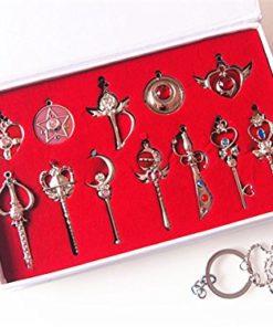 На картинке набор кулонов Сейлормун (12 предметов).