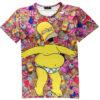 На картинке футболка с Гомером Симпсоном (Simpsons), вид спереди.