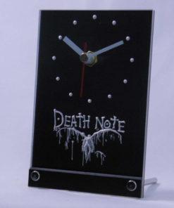 На картинке настольные часы Тетрадь смерти, общий вид.