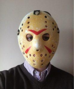 На картинке маска потрошителя Джейсона Вурхиса (Пятница 13), вид спереди, вариант 1.