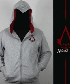 На картинке толстовка Асасин крид (Assassins creed) с капюшоном, вид спереди.