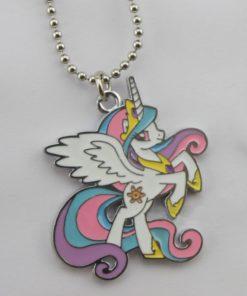 """На картинке кулон пони Принцесса Селестия (Princess Celestia) из """"My little pony"""", крупный план."""