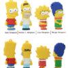 На картинке флешка «Симпсоны», вид спереди и сзади, 4 варианта.