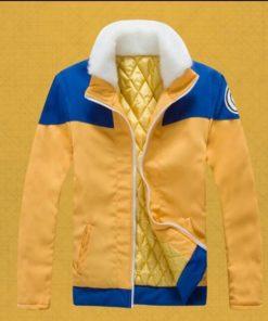 На картинке куртка Наруто (Naruto), вид спереди.