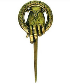 На картинке брошь (знак) десницы короля «Игра престолов», общий вид.