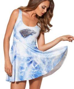 На картинке платье «Герб Старков» (Игра престолов), вид спереди.