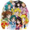 На картинке свитшот «Сейлормун» (Sailor moon), вид спереди.