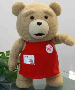 На картинке игрушка медведь Тед из фильма «Третий лишний», вид спереди.
