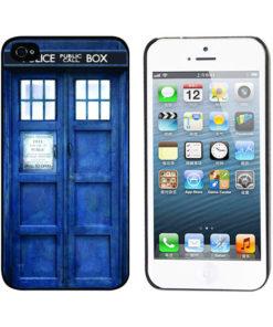 На картинке чехол «Доктор Кто» на айфон 4-4S-5-5S-6-6+, вид спереди и сзади.