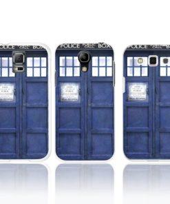 На картинке чехол «Доктор Кто» на Samsung Galaxy S3-S4-S5 (Самсунг галакси), вид сзади.