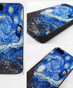 На картинке чехол «Доктор Кто» и Ван Гог на айфон 4-4S-5-5S-6-6+, вид сзади.