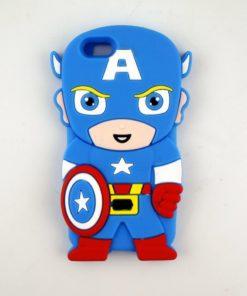 На картинке чехол на айфон 6 «Капитан Америка», вид спереди.