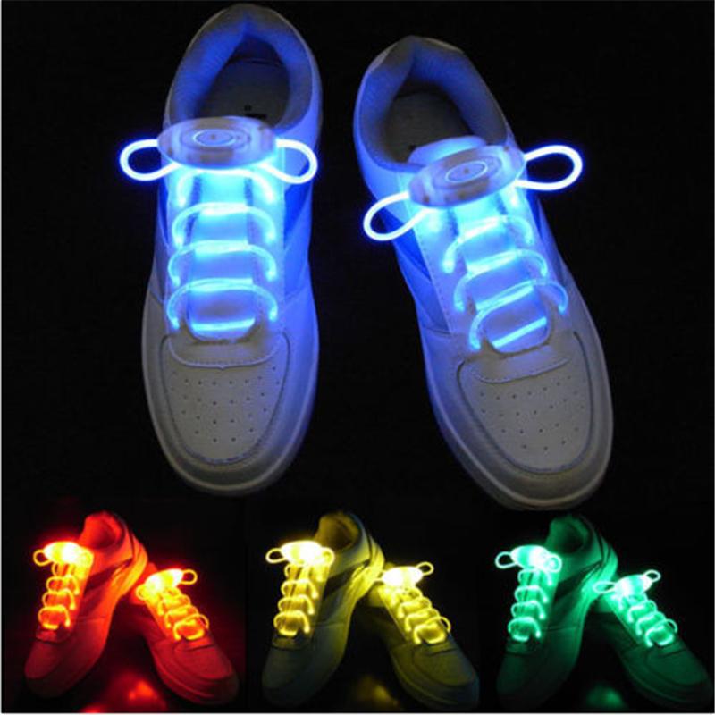 На картинке светящиеся led шнурки (4 варианта).