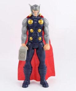 На картинке фигурка киногероя Тора из Мстителей, вид спереди.