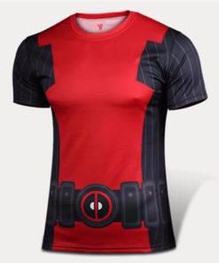 На картинке коспей-футболка Дэдпул (Дедпул \ Deadpool), вид спереди.